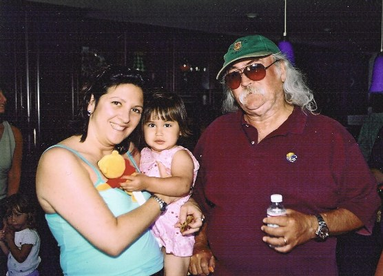 David Crosby with Nicole & Alison Sandler