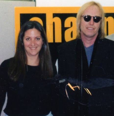 Tom Petty with Nicole Sandler at Channel 103.1/Los Angeles