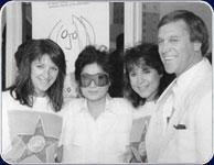 Yoko Ono with Nicole Sandler, KNX-FM GM Charlie Seraphin & Denise Westwood