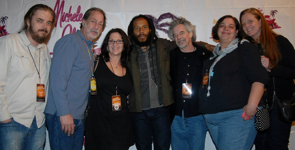 Ziggy Marley with Nicole Sandler & radio gang at Sunset Sessions