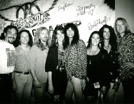 Aerosmith with Nicole Sandler and some KLOS crew