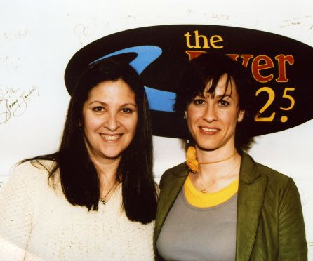 Alanis Morissette with Nicole at WXRV/Boston - The River 2004