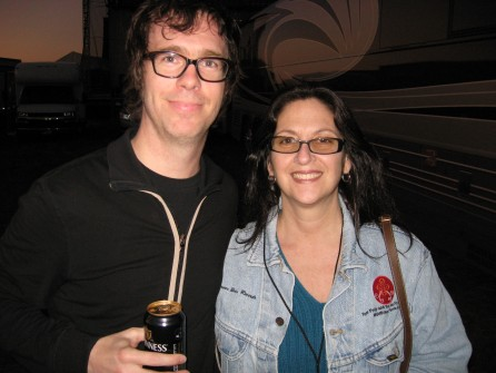 Ben Folds with Nicole at the Langerado Music Festival, Sunrise FL 2005