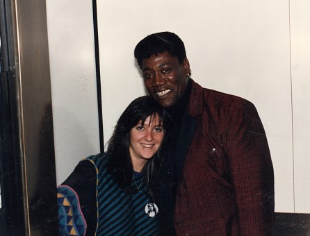 Clarence Clemons and Nicole Sandler - WPLJ c. 1985
