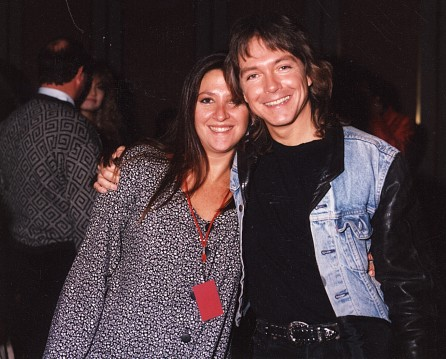 David Cassidy with Nicole- M&B Christmas Show