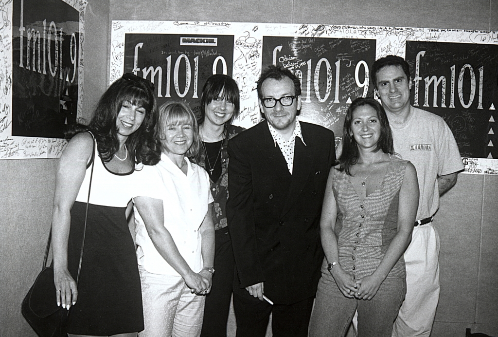 Elvis Costello in the fm 101.9 Music Hall