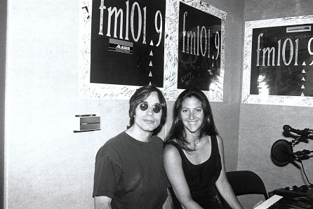 Jackson Browne with Nicole Sandler in the fm 101.9 Music Hall