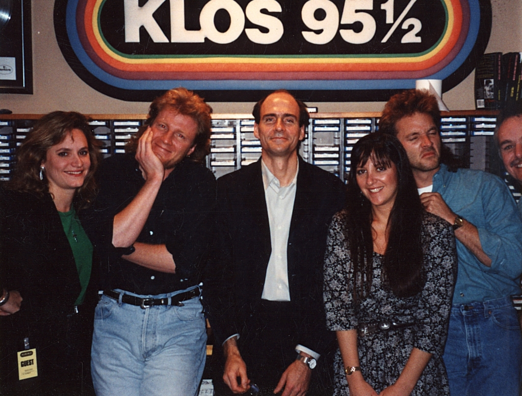 James Taylor, Nicole, M&B, Pam Edwards at KLOS