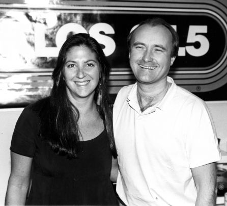 Phil Collins with Nicole Sandler