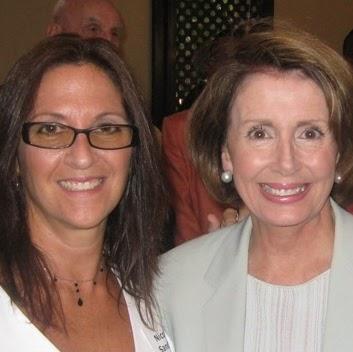 Nicole Sandler and Nancy Pelosi
