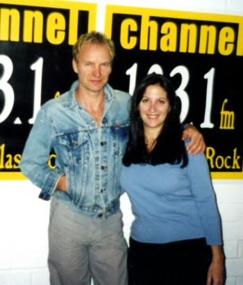 Sting with Nicole Sandler at Channel 103. 1/Santa Monica