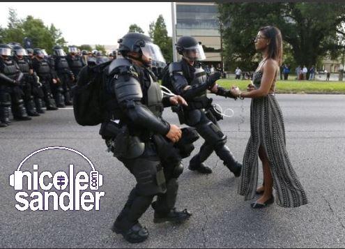 woman v cops