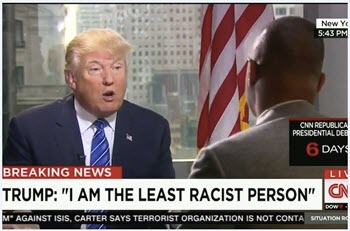 trump i'm the least racist person