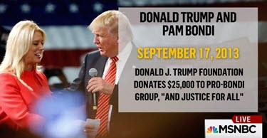 Trump, Bondi donation
